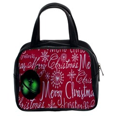 Christmas Decorations Retro Classic Handbags (2 Sides)