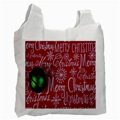 Christmas Decorations Retro Recycle Bag (Two Side)