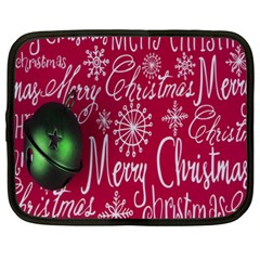 Christmas Decorations Retro Netbook Case (xxl)