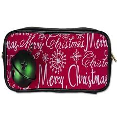 Christmas Decorations Retro Toiletries Bags