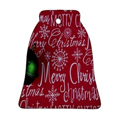Christmas Decorations Retro Bell Ornament (two Sides)