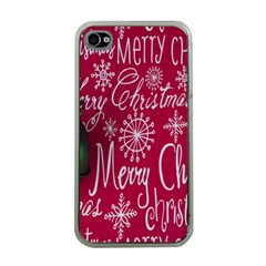 Christmas Decorations Retro Apple iPhone 4 Case (Clear)