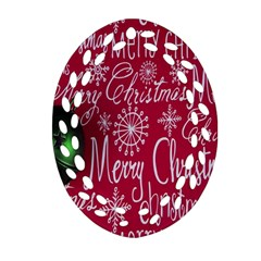 Christmas Decorations Retro Ornament (Oval Filigree)