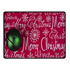 Christmas Decorations Retro Double Sided Fleece Blanket (small)