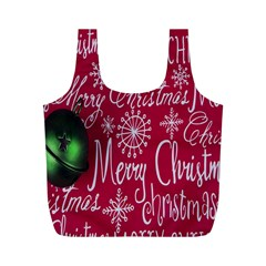 Christmas Decorations Retro Full Print Recycle Bags (m)