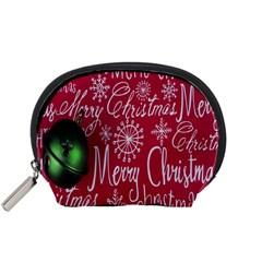 Christmas Decorations Retro Accessory Pouches (small)
