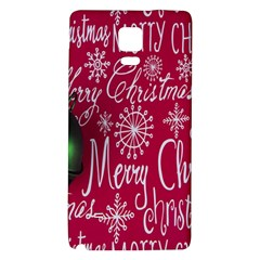 Christmas Decorations Retro Galaxy Note 4 Back Case
