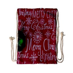 Christmas Decorations Retro Drawstring Bag (Small)