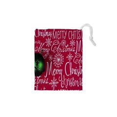 Christmas Decorations Retro Drawstring Pouches (XS)