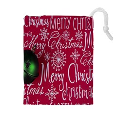 Christmas Decorations Retro Drawstring Pouches (Extra Large)