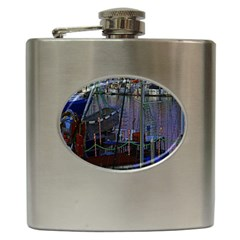 Christmas Boats In Harbor Hip Flask (6 oz)