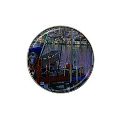 Christmas Boats In Harbor Hat Clip Ball Marker