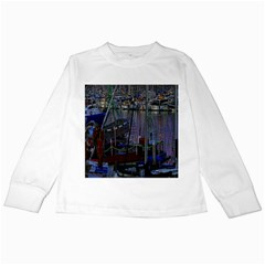 Christmas Boats In Harbor Kids Long Sleeve T-Shirts
