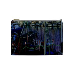 Christmas Boats In Harbor Cosmetic Bag (Medium)