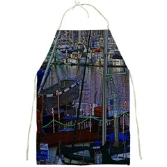 Christmas Boats In Harbor Full Print Aprons