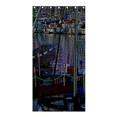 Christmas Boats In Harbor Shower Curtain 36  x 72  (Stall)