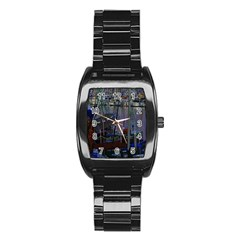 Christmas Boats In Harbor Stainless Steel Barrel Watch