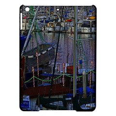 Christmas Boats In Harbor iPad Air Hardshell Cases