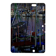 Christmas Boats In Harbor Kindle Fire Hdx 8 9  Hardshell Case