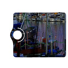 Christmas Boats In Harbor Kindle Fire Hdx 8 9  Flip 360 Case