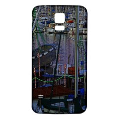 Christmas Boats In Harbor Samsung Galaxy S5 Back Case (white)