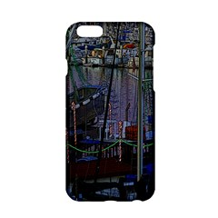 Christmas Boats In Harbor Apple Iphone 6/6s Hardshell Case