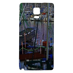 Christmas Boats In Harbor Galaxy Note 4 Back Case