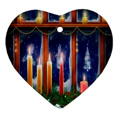 Christmas Lighting Candles Ornament (Heart)