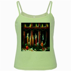 Christmas Lighting Candles Green Spaghetti Tank
