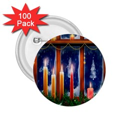 Christmas Lighting Candles 2.25  Buttons (100 pack)