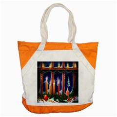 Christmas Lighting Candles Accent Tote Bag