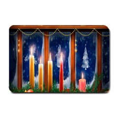 Christmas Lighting Candles Small Doormat