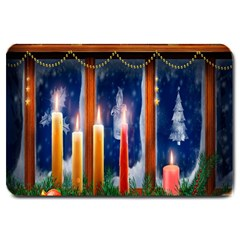 Christmas Lighting Candles Large Doormat