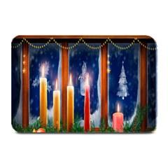 Christmas Lighting Candles Plate Mats
