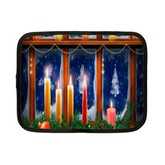 Christmas Lighting Candles Netbook Case (Small)