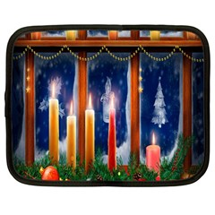 Christmas Lighting Candles Netbook Case (Large)