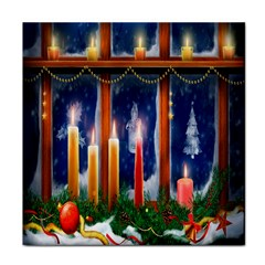 Christmas Lighting Candles Face Towel