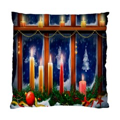 Christmas Lighting Candles Standard Cushion Case (One Side)