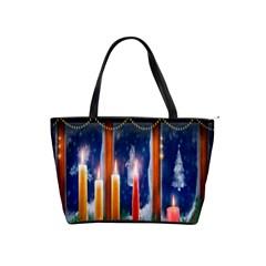 Christmas Lighting Candles Shoulder Handbags