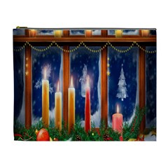 Christmas Lighting Candles Cosmetic Bag (XL)