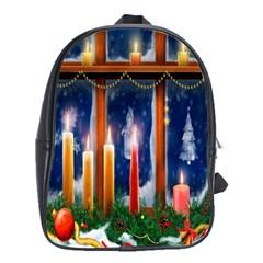Christmas Lighting Candles School Bags(Large)