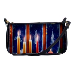 Christmas Lighting Candles Shoulder Clutch Bags