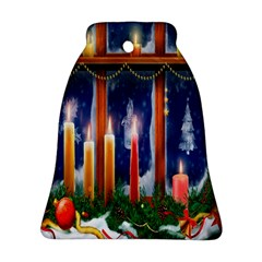 Christmas Lighting Candles Bell Ornament (two Sides)