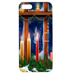 Christmas Lighting Candles Apple iPhone 5 Hardshell Case with Stand