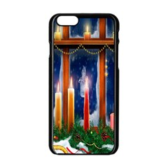 Christmas Lighting Candles Apple iPhone 6/6S Black Enamel Case