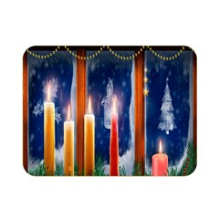 Christmas Lighting Candles Double Sided Flano Blanket (mini)