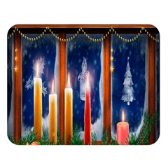 Christmas Lighting Candles Double Sided Flano Blanket (Large)