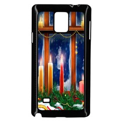 Christmas Lighting Candles Samsung Galaxy Note 4 Case (Black)