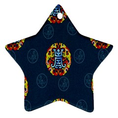 China Wind Dragon Star Ornament (Two Sides)