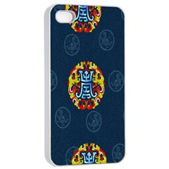 China Wind Dragon Apple iPhone 4/4s Seamless Case (White)